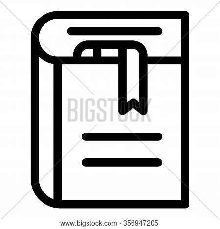 Diary Icon. Outline Diary Vector Icon For Web Design Isolated On White Background
