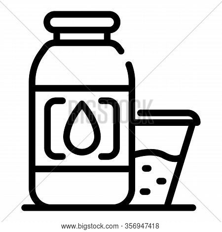 Aromatic Oil For The Sauna Icon. Outline Aromatic Oil For The Sauna Vector Icon For Web Design Isola