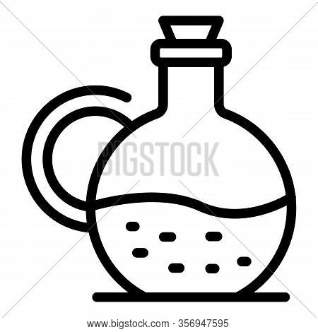 Carafe With Liquid Icon. Outline Carafe With Liquid Vector Icon For Web Design Isolated On White Bac