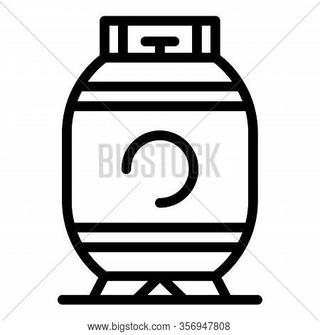 Some Gas Cylinder Icon. Outline Some Gas Cylinder Vector Icon For Web Design Isolated On White Backg