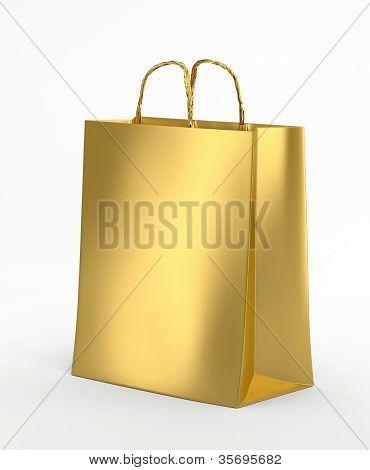 Gold Paper Bag