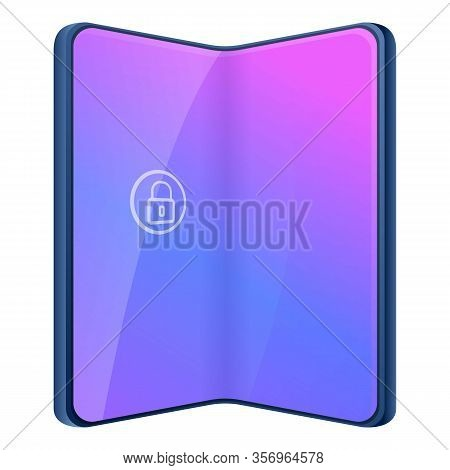 Foldable Mobile Phone Icon. Cartoon Of Foldable Mobile Phone Vector Icon For Web Design Isolated On