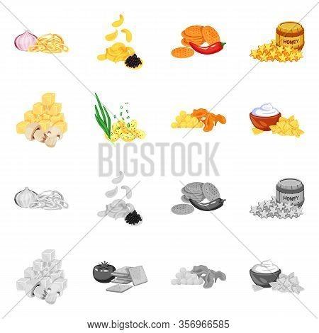 Vector Illustration Of Taste And Seasonin Sign. Collection Of Taste And Organic Vector Icon For Stoc