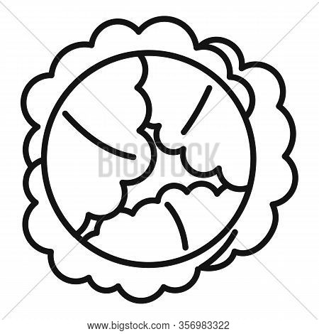 Food Cabbage Icon. Outline Food Cabbage Vector Icon For Web Design Isolated On White Background