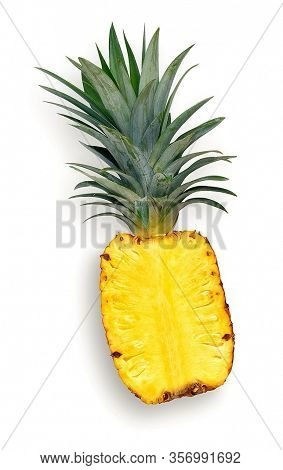 Pineapple. Healthy Pineapple. Fresh Pieces Of Pineapple Fruit.