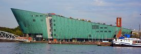 Amsterdam Netherland 01 10 2015: Netherlands. Science Center Nemo Is A Science Center Designed By Re