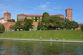 Krakow Poland 09 14 17: Wawel Castle Is A Castle Residency Located In Central Krakow, Poland. Built