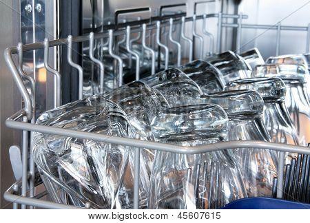 Details of a dishwasher