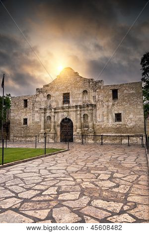 Sunrise Over The Alamo