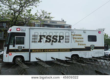 Flatbush Shomrim safety patrol mobile command center in Brooklyn