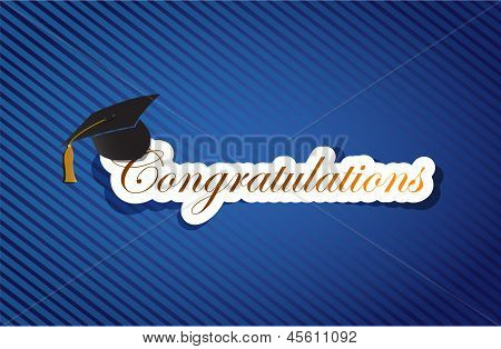 Education Congratulations Sign Background