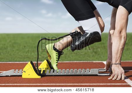 Disabled Sprinter Start Block