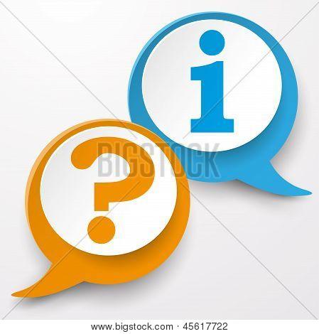 Frage Informationen Speech Bubble Etiketten