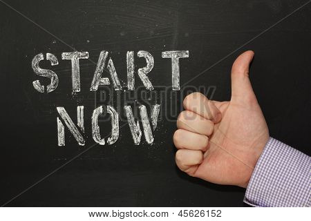 Start Now Thumbs Up