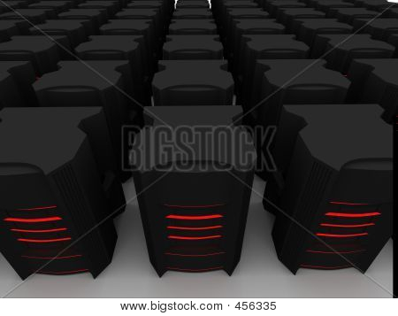 Black Hosting Server Farm