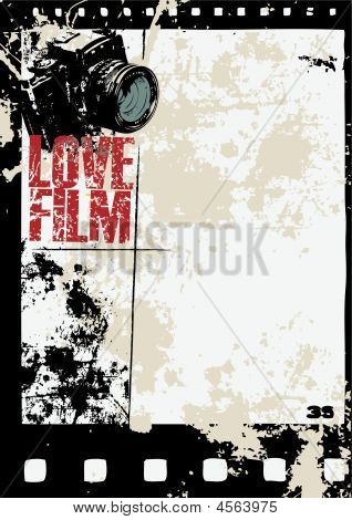 Grunge Film Camera Frame
