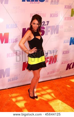 LOS ANGELES - MAY 11:  Janel Parrish attend the 2013 Wango Tango concert produced by KIIS-FM at the Home Depot Center on May 11, 2013 in Carson, CA