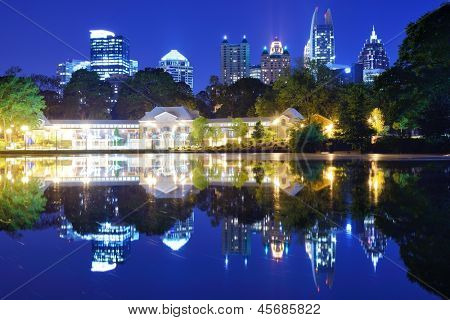 Mditown Atlanta, Georgia from Piedmont Park