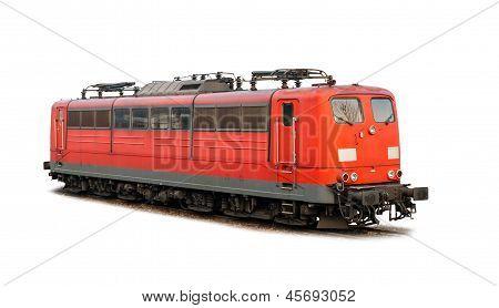 Deutsche Bahn Elektrolokomotivbaureihe 151 Isolated On White
