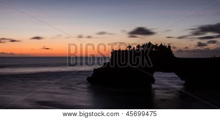 Tanah Lot Temple Silhouette