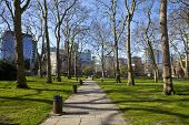 A view of Paddington Green in London. poster