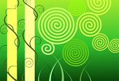 Illustration of art abstract in inertial green design background poster
