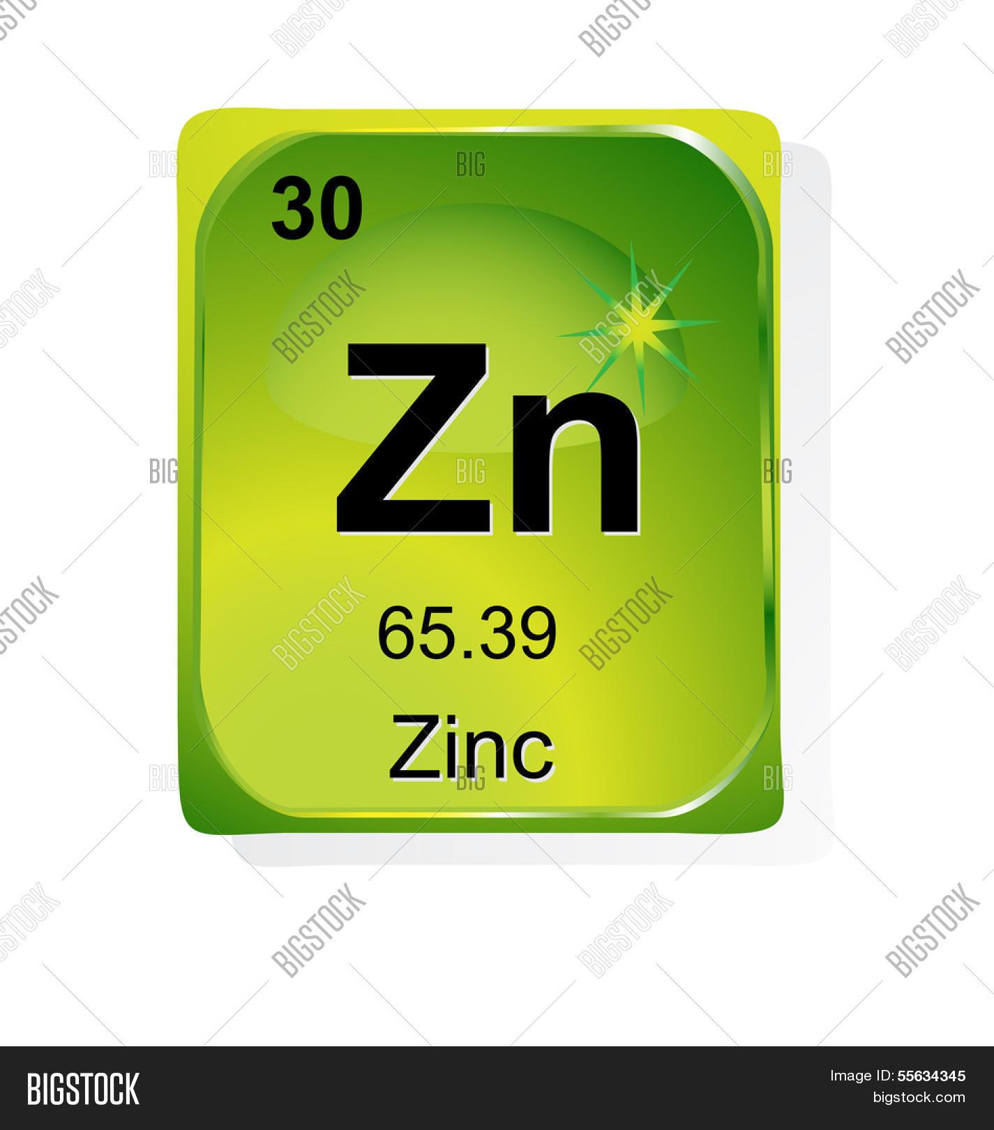 Zinc Chemical Element Vector Photo Free Trial Bigstock