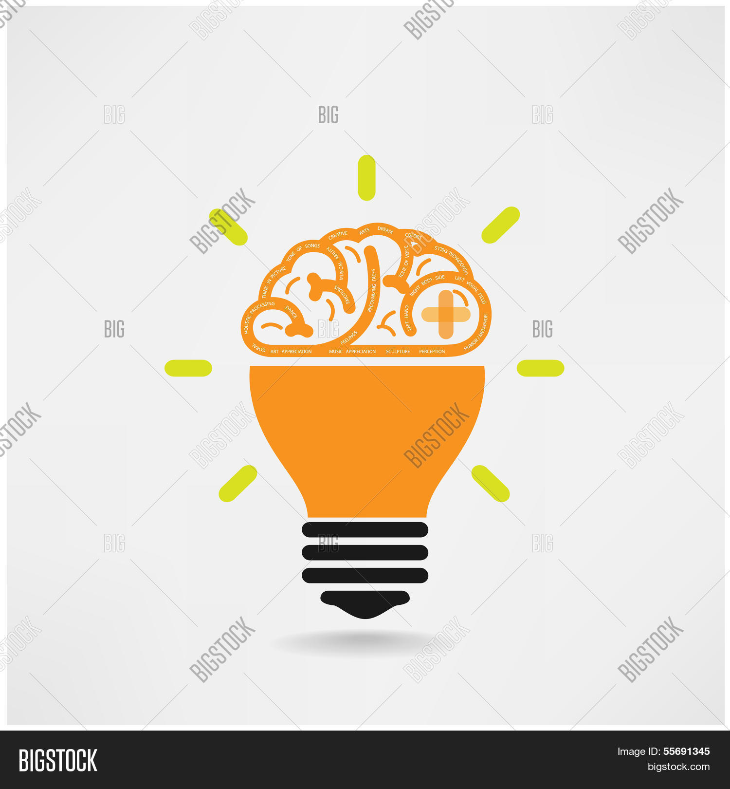 Creative brain symbolcreativity vector photo bigstock creative brain symbolcreativity signbusiness symbolknowledge and education icon biocorpaavc Image collections