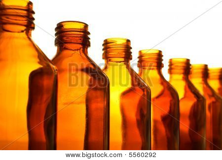 Row Of Medicine Bottle