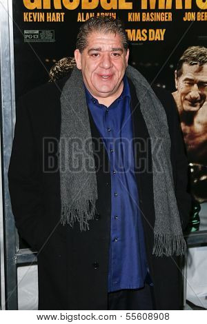 """NEW YORK-DEC 16: Actor Joey Diaz attends the premiere of """"Grudge Match"""" at the Ziegfeld Theatre on December 16, 2013 in New York City."""