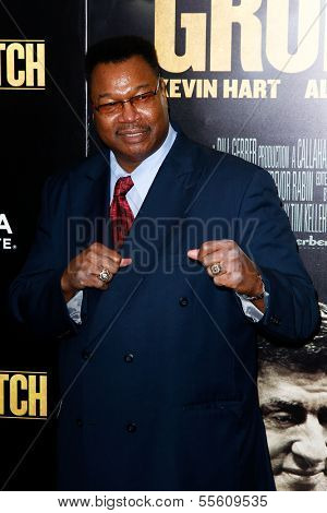 NEW YORK-DEC 16: Boxer Larry Holmes attends the world premiere of