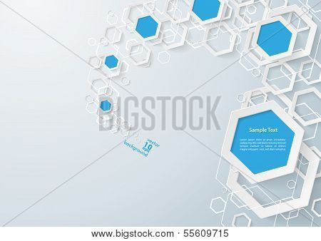 White And Blue Hexagons Dust