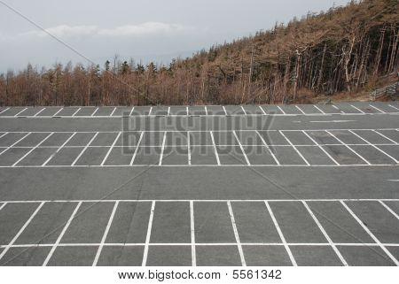 Empty Car Park At Fuji