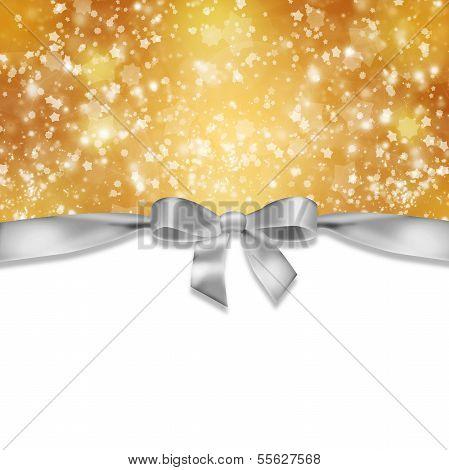 Ribbon and snowflakes