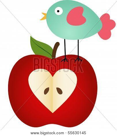 Bird on Apple
