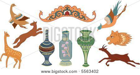 animals jug elements vector
