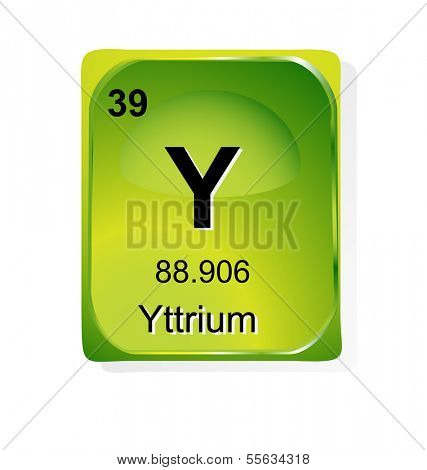 Yttrium chemical element with atomic number, symbol and weight