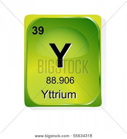Yttrium Chemical Element Atomic Vector Photo Bigstock