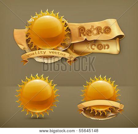 Sun, vector icon