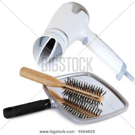 Blow drying images illustrations vectors blow drying for Accessories for beauty salon