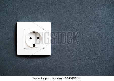 Electrical Outlet Socket On Wall