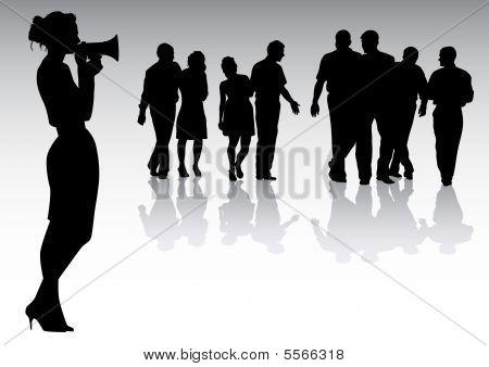 Woman With Megaphones