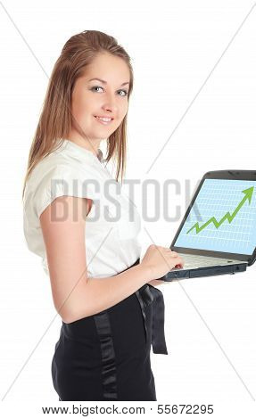 Business-Frau mit laptop
