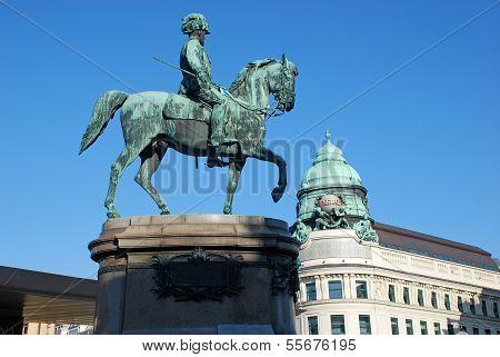 Statue Of Archduke Albrecht In Vienna, Austria