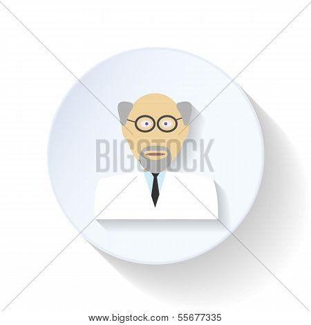 Scientist flat icon