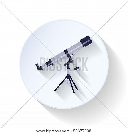 Telescope flat icon