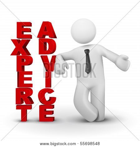 3D Business Man Presenting Concept Of Expert Advicet