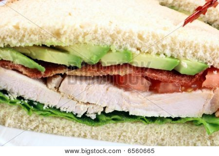 Fabulous turkey sandwich made with oven roasted turkey breast and organic vegetables poster