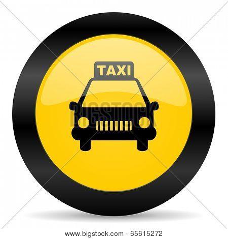 taxi black yellow web icon