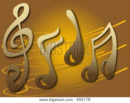 Stylish Music notes poster